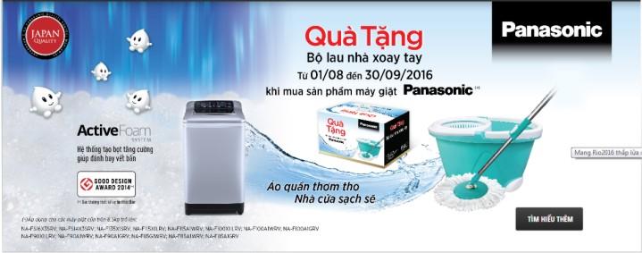 Panasonic tặng chổi lau nhà